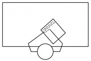 Positionnement de la feuille pour écrire : droitier