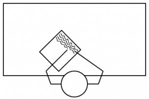 Positionnement de la feuille pour gaucher