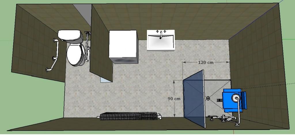 Exemple d'aménagement de salle de bain